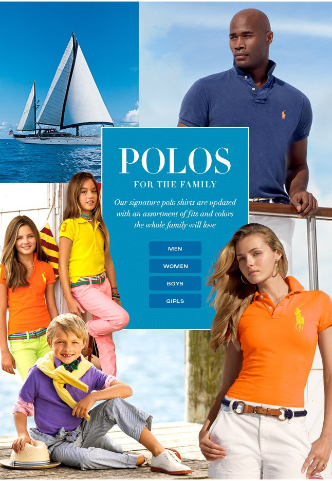 Spring Polos For The Whole Family