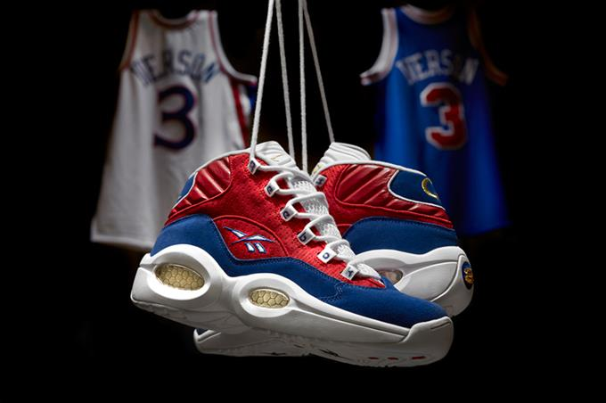 """In honor of Allen Iverson's jersey retirement Reebok Classic has chosen to immortalize the occasion with this """"Banner"""" colorway of his signature Question Mid."""