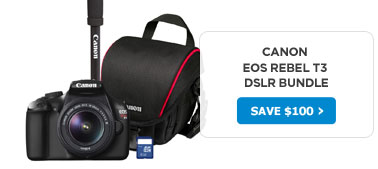 Canon EOS Rebel T3 DSLR Bundle