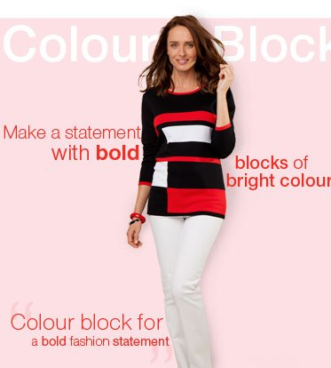 Colour Block - Make a statement with bold block of bright colours