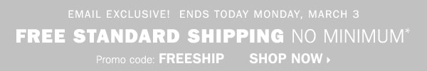 FREE SHIPPING Final Day!