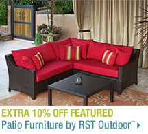 Extra 10% off Featured Patio Furniture by RST Outdoor**