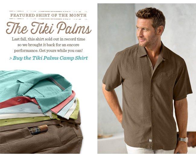 Buy the Tiki Palms Camp Shirt
