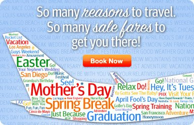 So many reasons to travel. So many sale fares to get you there!