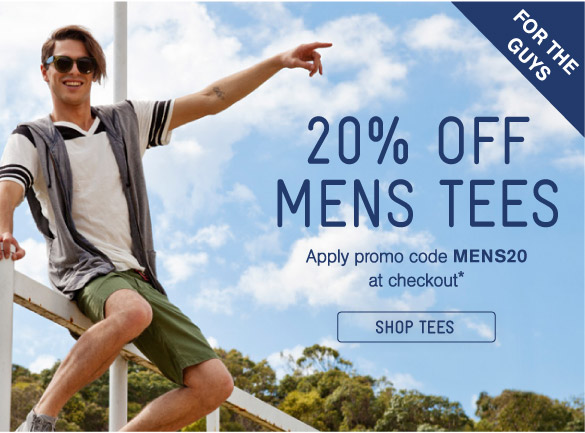 20% Off Mens Tees - Shop Now