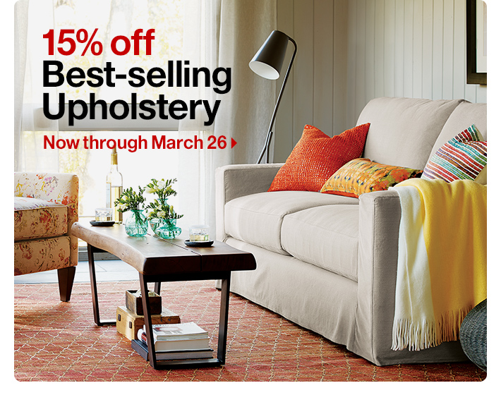 15% off Best-selling Upholstery