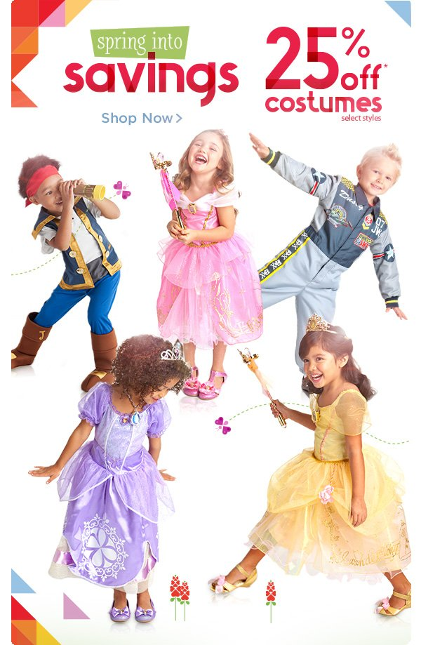 Spring into Savings - 25% off Costumes - select styles | Shop Now
