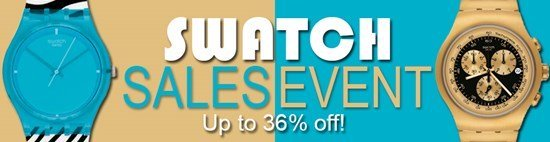 Save up to 36% during the Swatch watches sales event