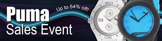 Save up to 54% during the Puma watches sales event
