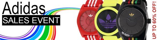 Save up to 60% during the Adidas watches sales event