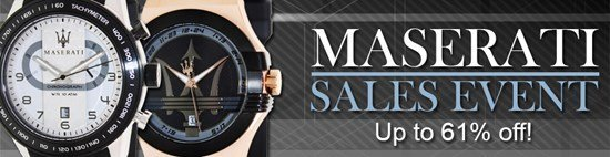 Save up to 61% during the Maserati watches sales event