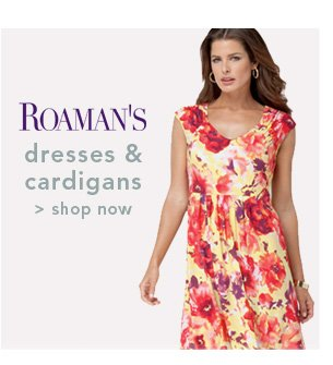 Shop Roamans Dresses & Cardigans