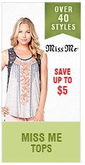 Womens Miss Me Tops