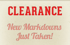 New Clearance Markdowns