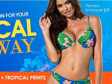 SHOP Tropical Prints Swim Collection