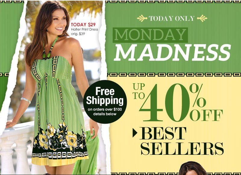 Monday Madness SALE! Up to 40% OFF Best Sellers! SHOP NOW!