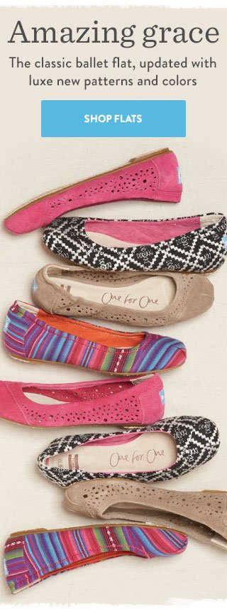 Amazing grace - the classic ballet flat, updated with luxe new patterns and colors. Shop Flats