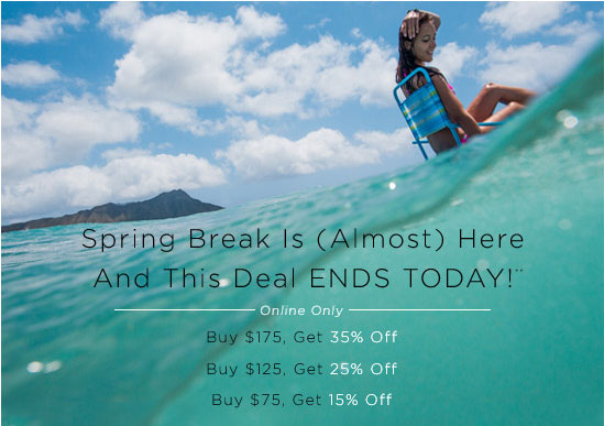 Spring Break Is (Almost) Here And This Deal ENDS TODAY!**