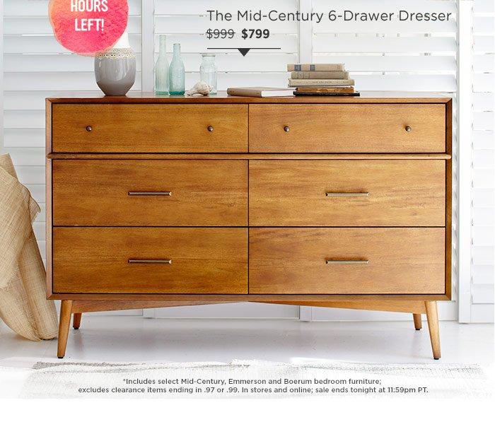 The mid-century 6-drawer dresser
