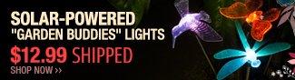 "Newegg Flash - Solar-Powered ""Garden Buddies"" Lights."