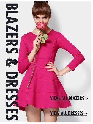 BLAZERS & DRESSES VIEAL ALL BLAZERS> & VIEW ALL DRESSES>