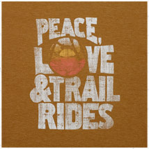 Women's Peace, Love and Trail Rides Cool Tee