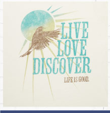 Women's Live, Love, Discover Cool Tee
