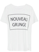 Letters White T-shirt