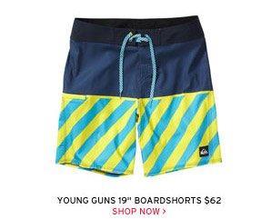 "Young Guns 19"" Boardshorts $62 - Shop Now"