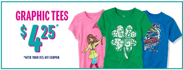 Graphic Tees only $4.25 & Under featuring St. Patrick's Day!