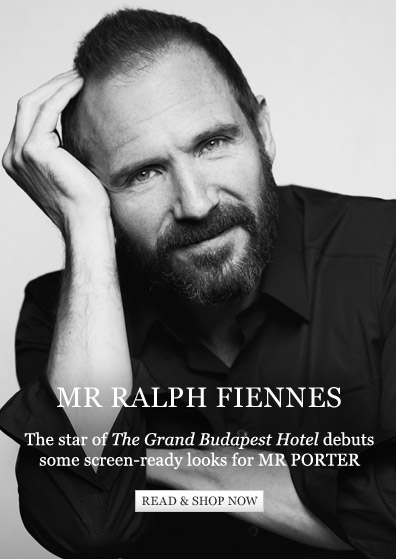 Mr Ralph Fiennes: The star of The Grand Budapest Hotel debuts some screen-ready looks for MR PORTER. Read & shop now