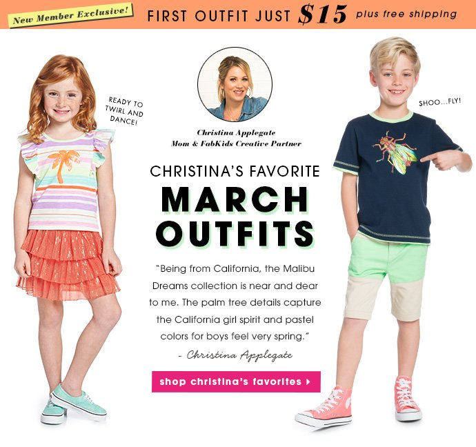 Christina Applegate's Favorite March Outfits.