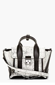 3.1 PHILLIP LIM SSENSE EXCLUSIVE White & Black Mini Pashli for women