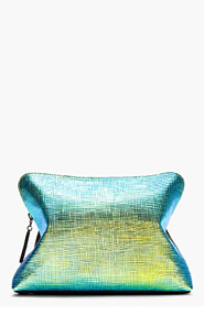 3.1 PHILLIP LIM Black and Iridescent 31 Miniute Lambskin Clutch for women