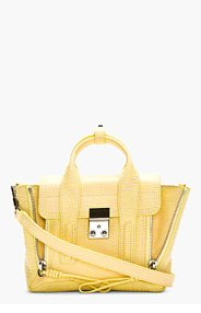 3.1 PHILLIP LIM Yellow & Pink Leather Mini Pashli Satchel for women