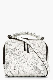 3.1 PHILLIP LIM White Crackled Leather Small Ryder Shoulder Bag for women