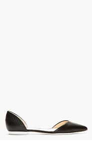 3.1 PHILLIP LIM Black Leather D'Orsay Devon Flats for women