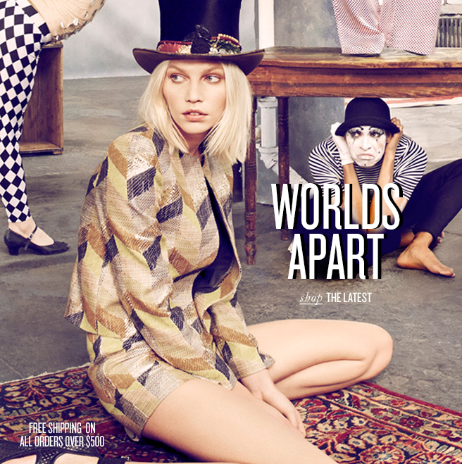 WORLDS APART shop THE LATEST - FREE SHIPPING ON ALL ORDERS OVER $500