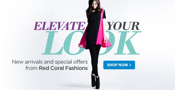New arrivals and special offers from Red Coral Fashions