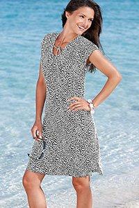 LEOPARD PRINT SUN DRESS
