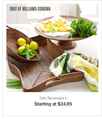 ONLY AT WILLIAMS-SONOMA - Nito Serveware - Starting at $24.95