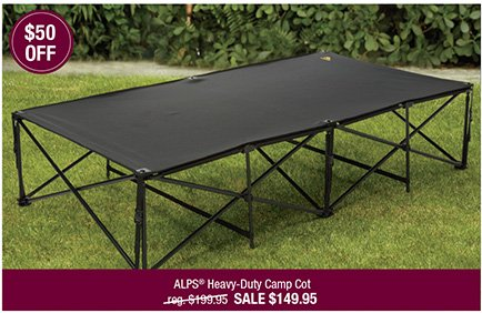 ALPS Heavy-Duty Camp Cot
