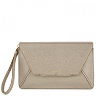 LANVIN - Metallic flecked leather clutch