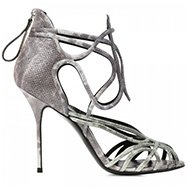 PIERRE HARDY - Metallic watersnake sandals