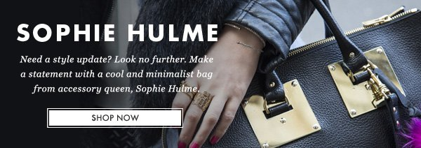 SOPHIE HULME - Need a style update? Look no further. Make a statement with a cool and minimalist bag from accessory queen, Sophie Hulme. SHOP NOW
