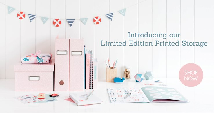 Introducing our Limited Edition Printed Storage. Shop now.