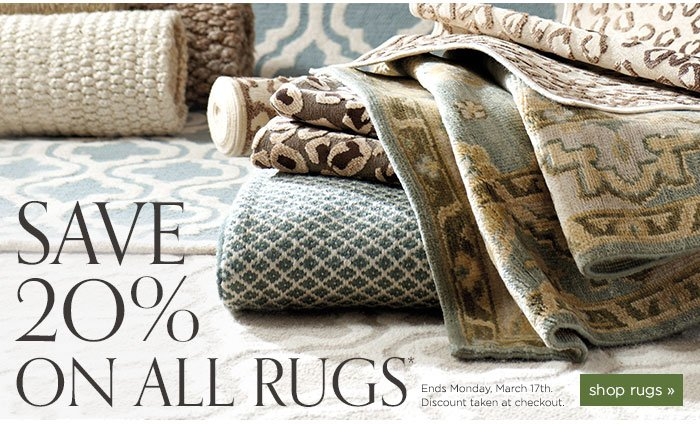 Save 20% on All Rugs