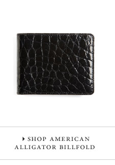 SHOP AMERICAN ALLIGATOR BILLFOLD