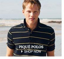 Piqué Polos - SHOP NOW