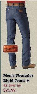 Mens Wrangler Rigid Jeans on Sale